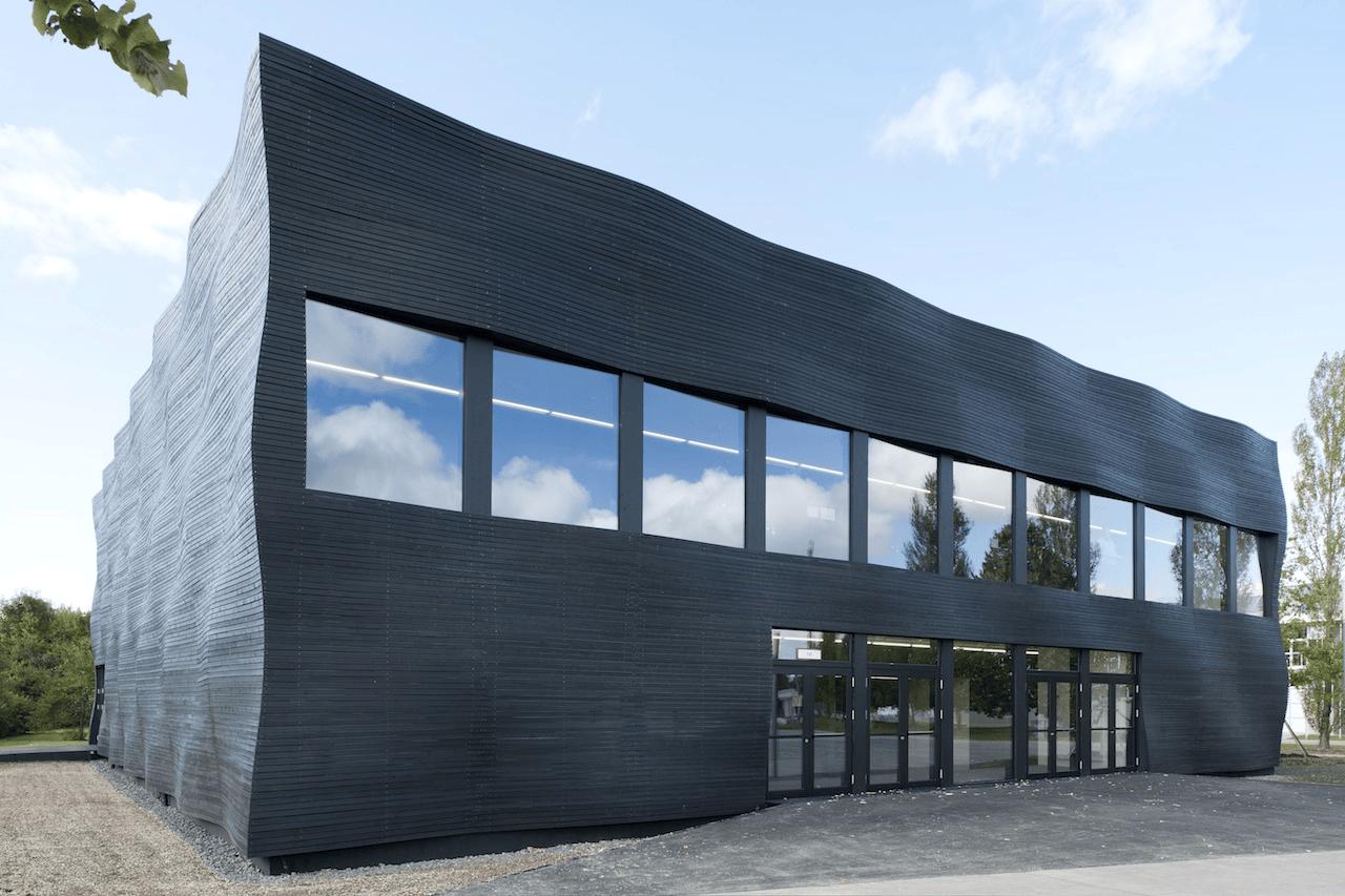 Edificio Interims Audimax en la Universidad Técnica de Munich en Alemania